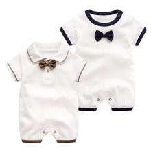 26a71ff2d Summer Baby Boys Clothes Newborn Infant Girls Jumpsuit Short Sleeve Bebe  Clothing Cotton Kid Clothes Cute