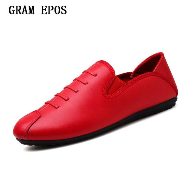 GRAM EPOS Homens Sapatos de Luxo Da Marca Inglaterra Tendência Lazer PU Sapatos  De Couro Respirável 465c5e0657921