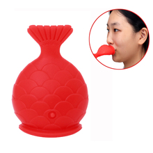 Women Sexy Full Lip Plumper Enhancer Lips Silicone Fish Shape Plump Thicken Labium Tools Natural Pout Mouth Tool size l beauty lips enhancer plump pout fuller suction device