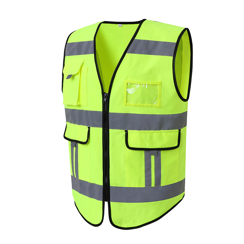 Reflective waistcoat safety vest with reflective stripes for driver цена