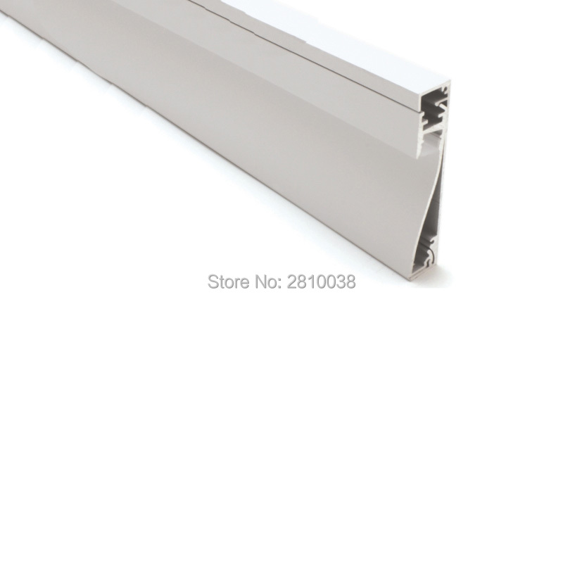 10 X 2M Sets/Lot Wall washer led strip channel Flat type aluminium led profile housing for wall recessed lighting 50 x 2m sets lot office lighting led profile housing 75 mm tall u type led aluminum extrusion for suspension lights