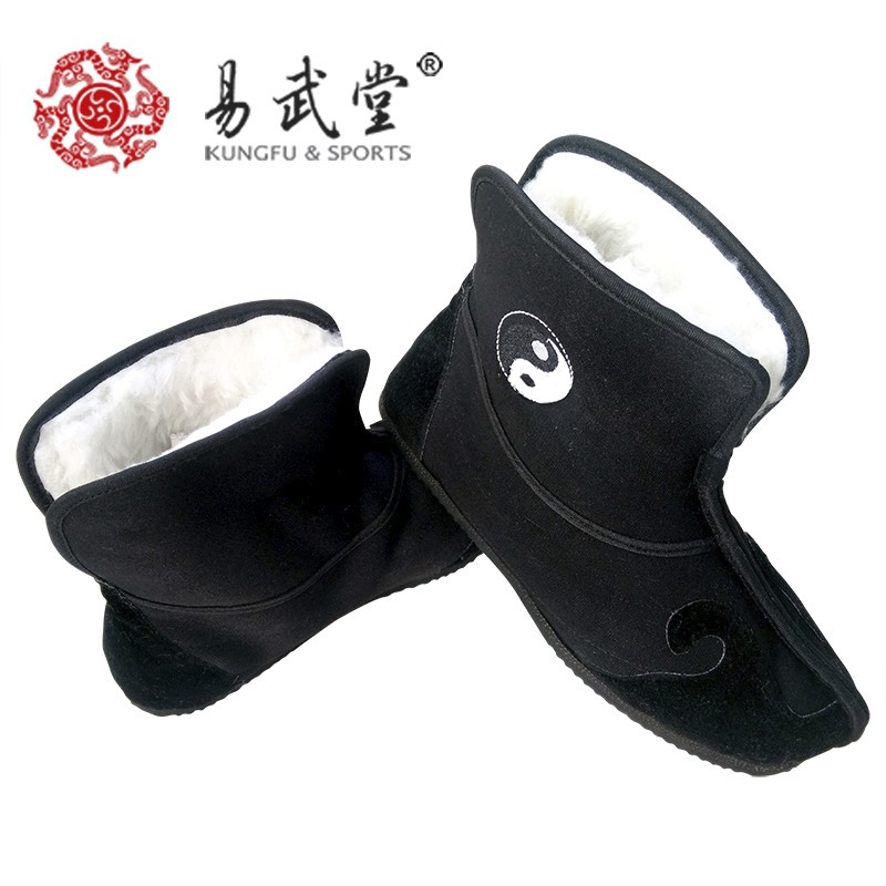 a9a4283b5 تاي تشي أحذية الصينية فنون الدفاع عن النفس أحذية الشتاء القطن غير الانزلاق  الكونغفو أحذية و وو شو أحذية