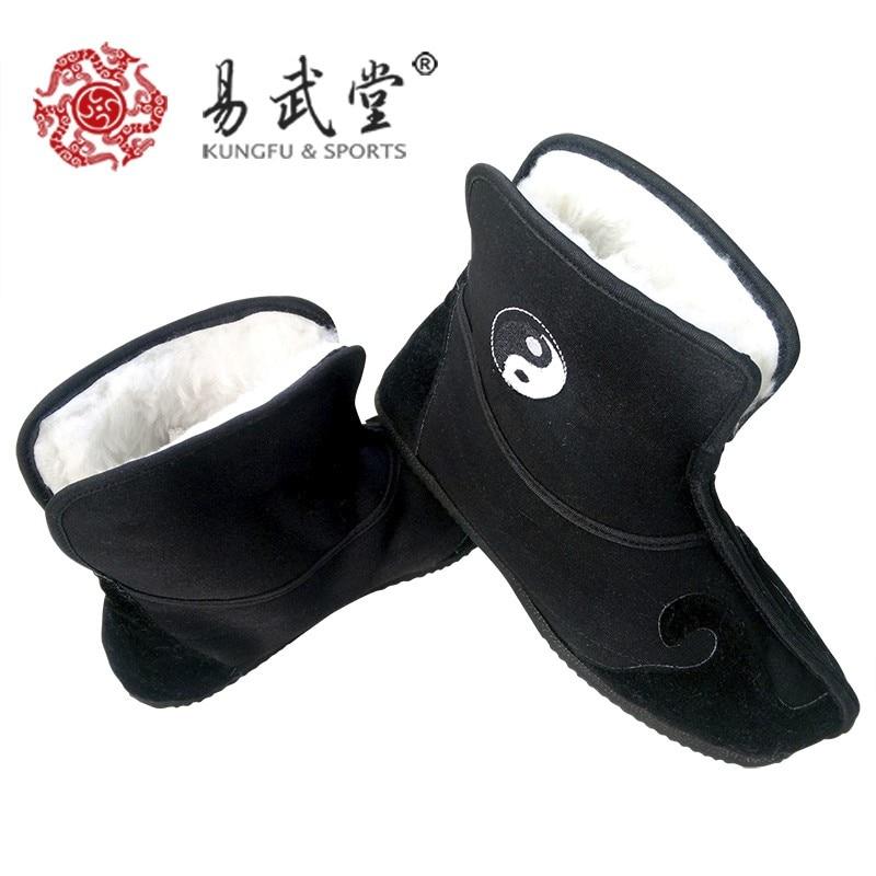 [ Yiwutang ] боевых искусств обувь, Зима хлопок без - анти-скольжение тай-чи обувь, Кунг-фу обувь
