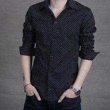 2018 Male Long Sleeve Casual Hit Color Slim Fit Black Man Dress Shirts Fashion Shirt Confortable J203