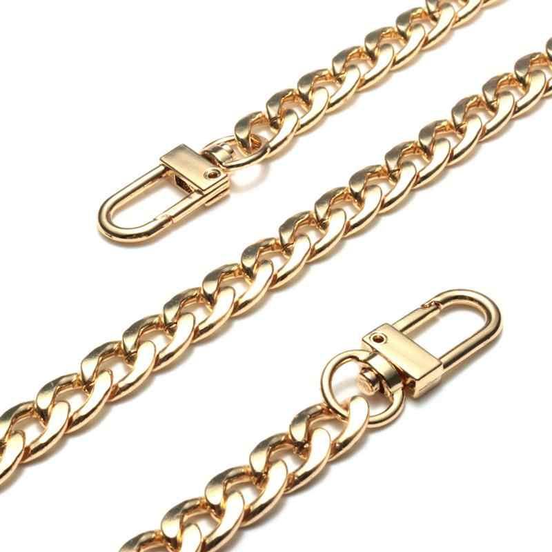 גבוהה-סוף תיק רצועת שרשרת אביזרי מתכת תיק חגורה החלפה עבור תיק ארנק חלק זהב כסף צבע תיק רצועות מתנה