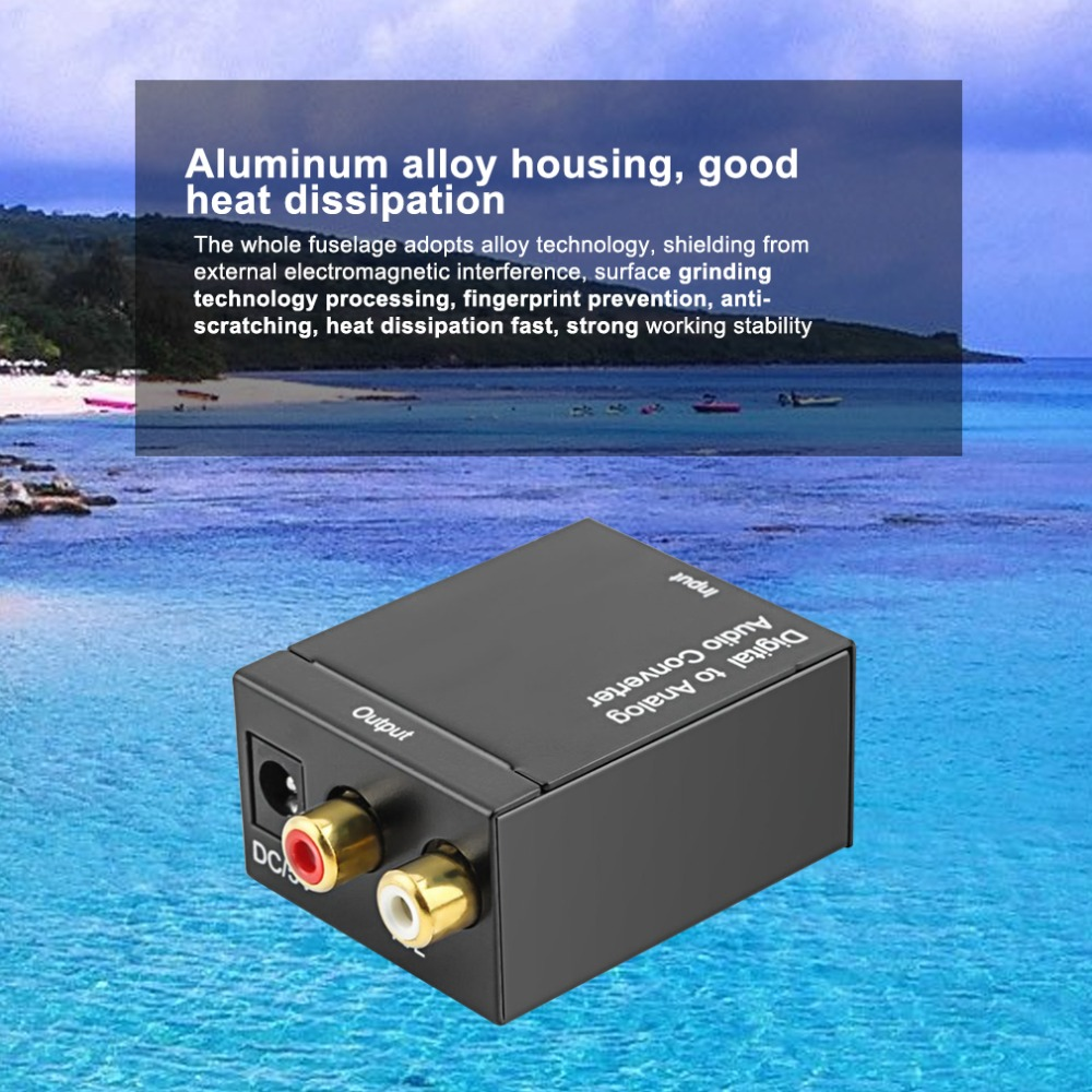 Digital To Analog Audio Converter Digital Optical Coaxial RCA Toslink Signal to Analog Audio Converter Adapter For DVD TV Theate digital to analog audio converter adapter optic coaxial rca toslink signal to analog audio converter rca