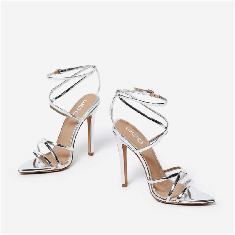 MSSTOR Cross-tied Stiletto Yellow Shoes Women High Heels Fashion Buckle Strap Sexy Women Sandals Peep Toe Summer Shoes 10.5CM