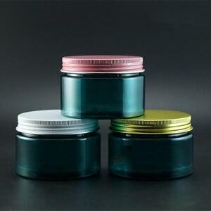 Image 2 - 120 גרם ירוק למילוי חוזרים בקבוק קרם פלסטיק צנצנת קוסמטית מכולות אריזת אבקת מסיכת קרם גוף אור להימנע בלתי נראה