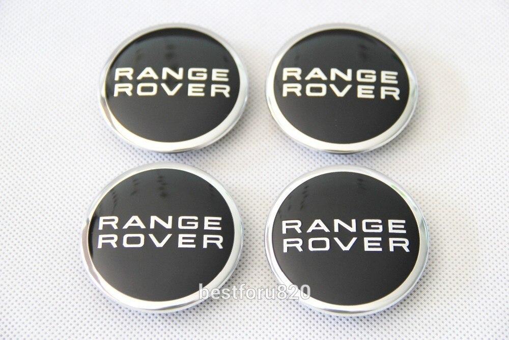 "4x RANGE ROVER BLACK CENTER WHEEL BLACK EMBLEM BADGE HUB CAPS 63MM 2.5/"""