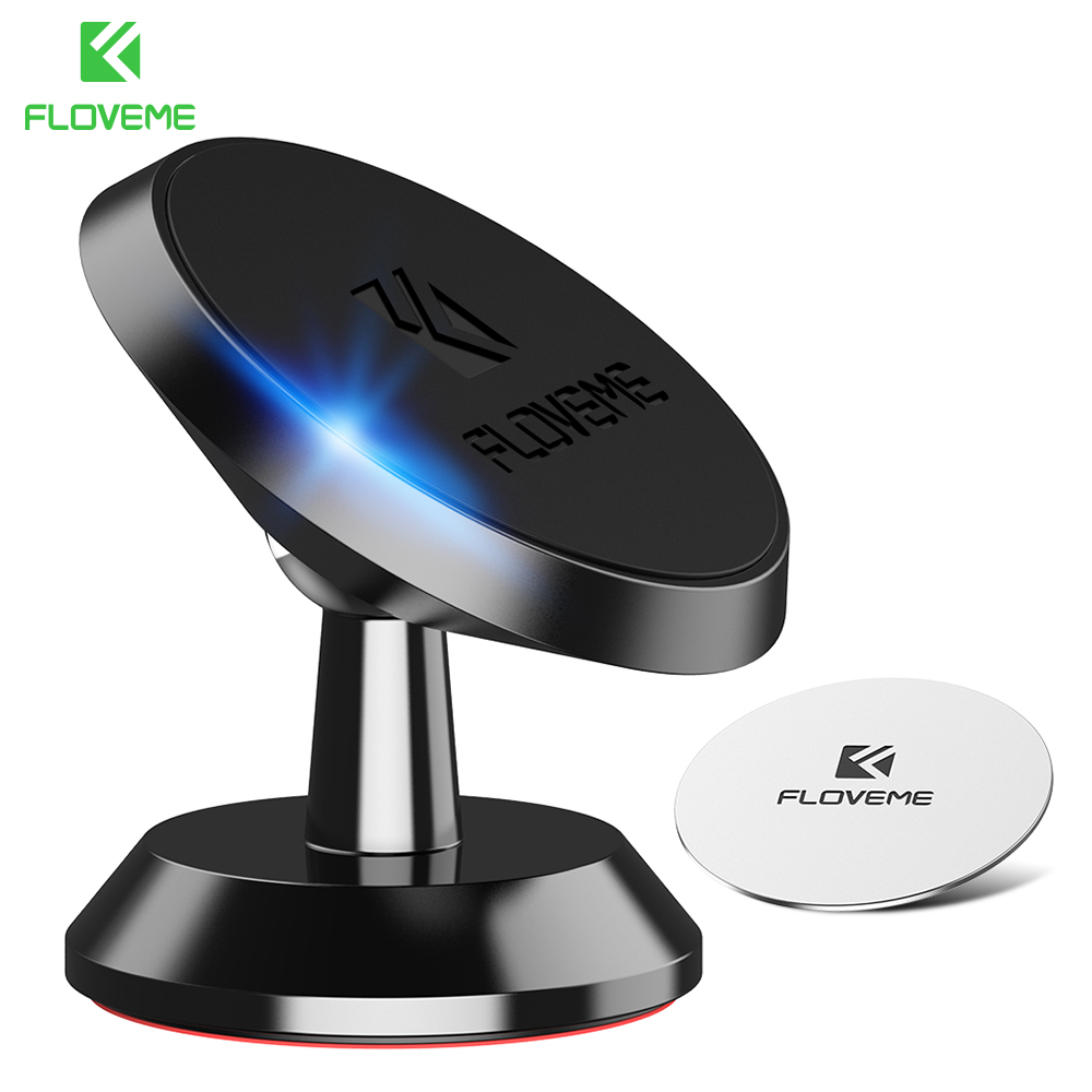 FLOVEME Car Phone Holder Strong Magnetic 360 Rotation Phone Stand For IPhone 5s 7 Samsung Soporte Celular Movil Auto Car Holders