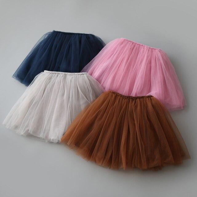 Мода новорожденных девочек юбки Дети дети осень одежда Девушки тюль юбки pettiskirt Балет танец костюм Рождество