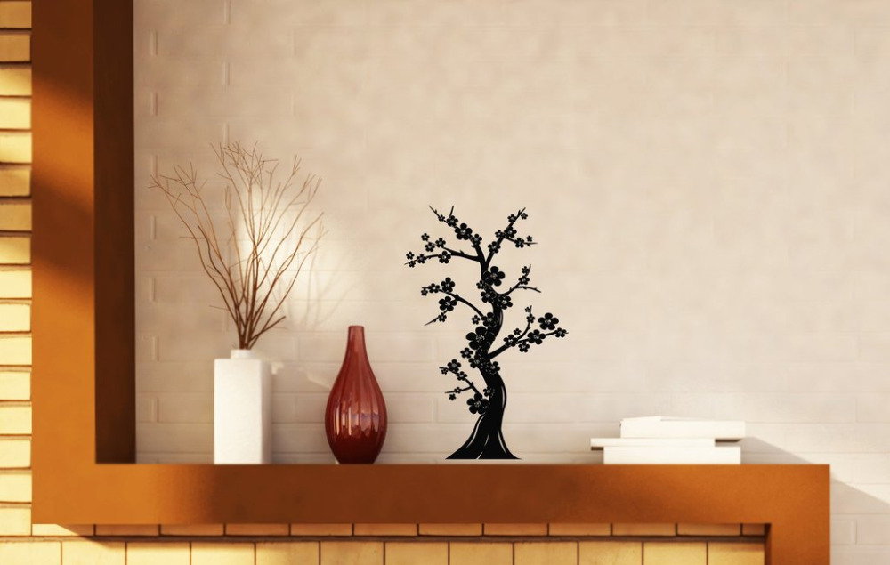 Bonsai Tree Japanese Culture Wall Stickers Abstract Nature