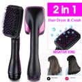 2 em 1 um passo secador de cabelo styler pente de cabelo 1000 w profissional secador de cabelo escova ferro negativo liso alisador