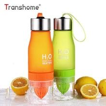 Transhome 650ML H20 Gyümölcs Víz Palack Infuser Műanyag BPA Ingyenes Citrom Juice Cup My Shaker Drinking Bottle Water Sports