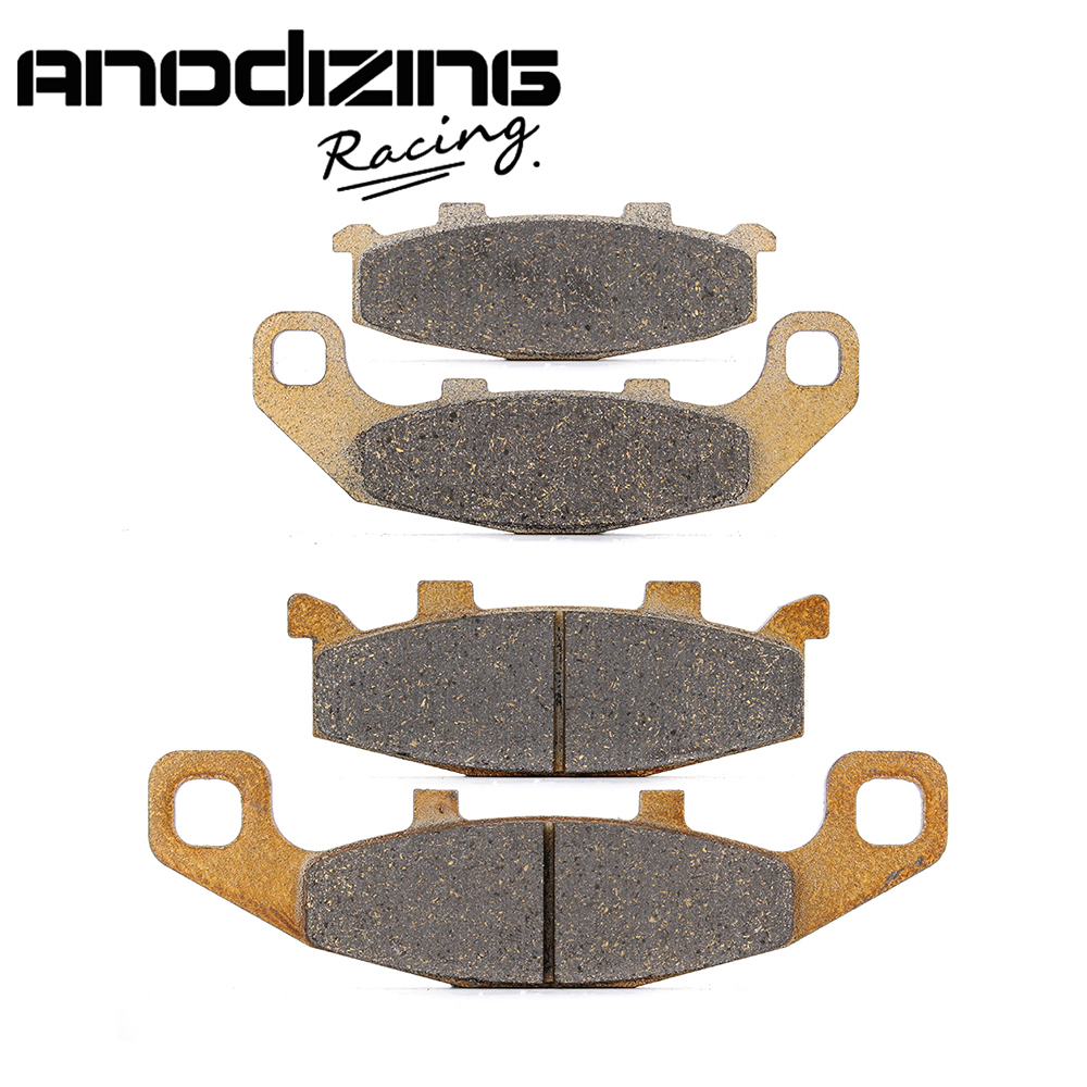 Motorcycle Front and Rear Brake Pads For KAWASAKI NINJA250 EX250 1988-2007 motorcycle front and rear brake pads for kawasaki zx12r zx 12r ninja zx1200 2000 2003
