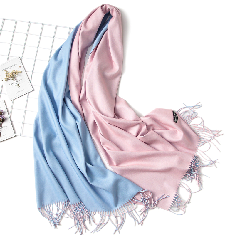 Hot 2020 Winter Scarf Double Side Women's Scarves Fashion Warm And Soft Cashmere Scarf Lady Shawls Pashmina Foulard Tassel