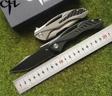 CH3519 Флиппер складной нож S35VN лезвие шарикоподшипники TC4 Титан ручка Отдых на природе Охота Карманный фрукты Ножи EDC инструмент