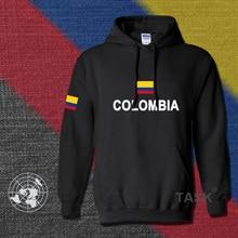 Colombia hoodies men sweatshirt polo sweat suit hip hop streetwear footballes jerseyes tracksuit nation Colombian flag CO fleece
