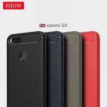ФОТО rijow for xiaomi mi a1 6x case mi a1 5x carbon fiber back full protective phone cover for xiomi mi m a1 5x mi5x a2 cases luxury
