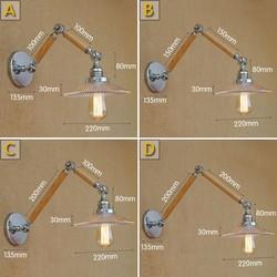 W stylu Retro Loft przemysłowe drewniane ściany u nas państwo lampy światła do użytku wewnątrz pomieszczeń oświetlenie Decor Edison rocznika kinkiety Arandela lampora Pared