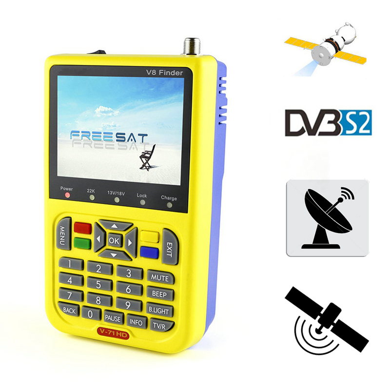 DVB-S2 FreeSat V8 Finder HD 1080P Satellite Finder MPEG-2 MPEG-4 DVB S2 Satellite Meter lnb Free Sat Finder V8 Receiver V-71 HD original freesat v8 finder dvb s2 satellite finder high definition mpeg 4 v8 satellite meter finder