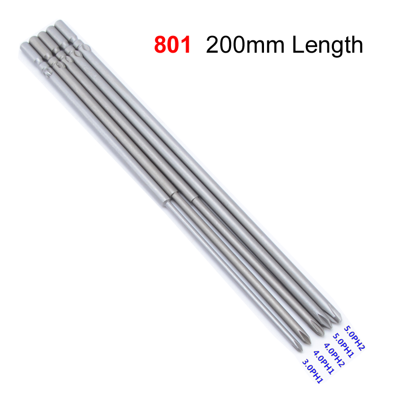 6 Mm Round Shank PH2 Magnétique Phillips Tournevis 200 mm long gray