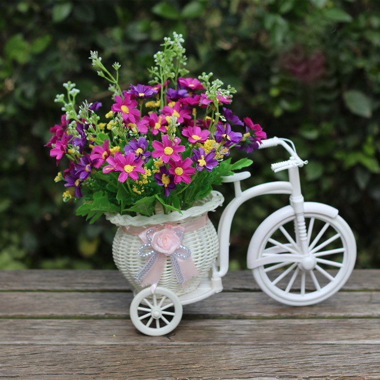 online shop white woven baskets decorative potted flower simulation artificial flowers wedding decoration flowers valentines day home decor aliexpress - Home Decor Flowers