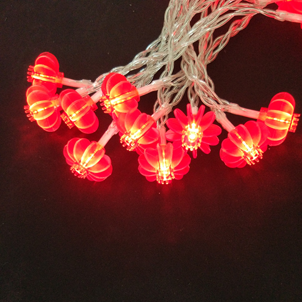 yiyang ac110v 220v powered 10m 100 led red chinese lantern string lights new year spring festival event party light decoration in led string from lights