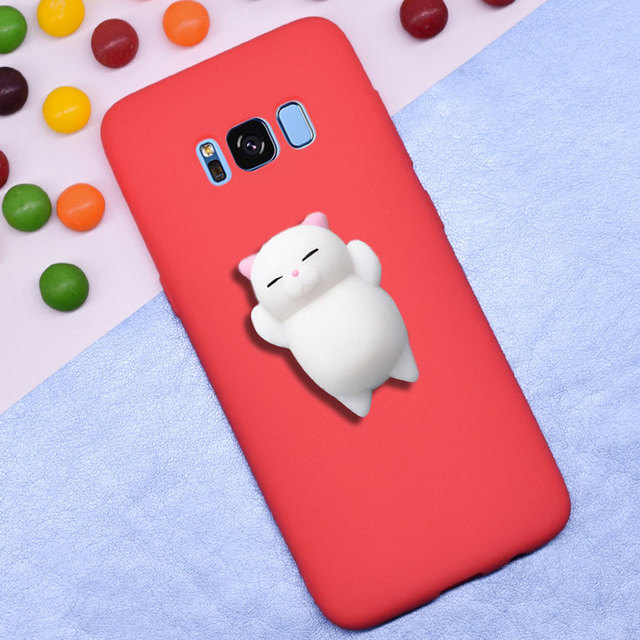 the latest f4d88 b71f4 US $2.99 |Squishy Cases for Samsung Galaxy S8 Plus Cases Silicone Pinch Cat  TPU Case Cover for Galaxy S7 Edge Covers Capa fundas Coque-in Fitted Cases  ...