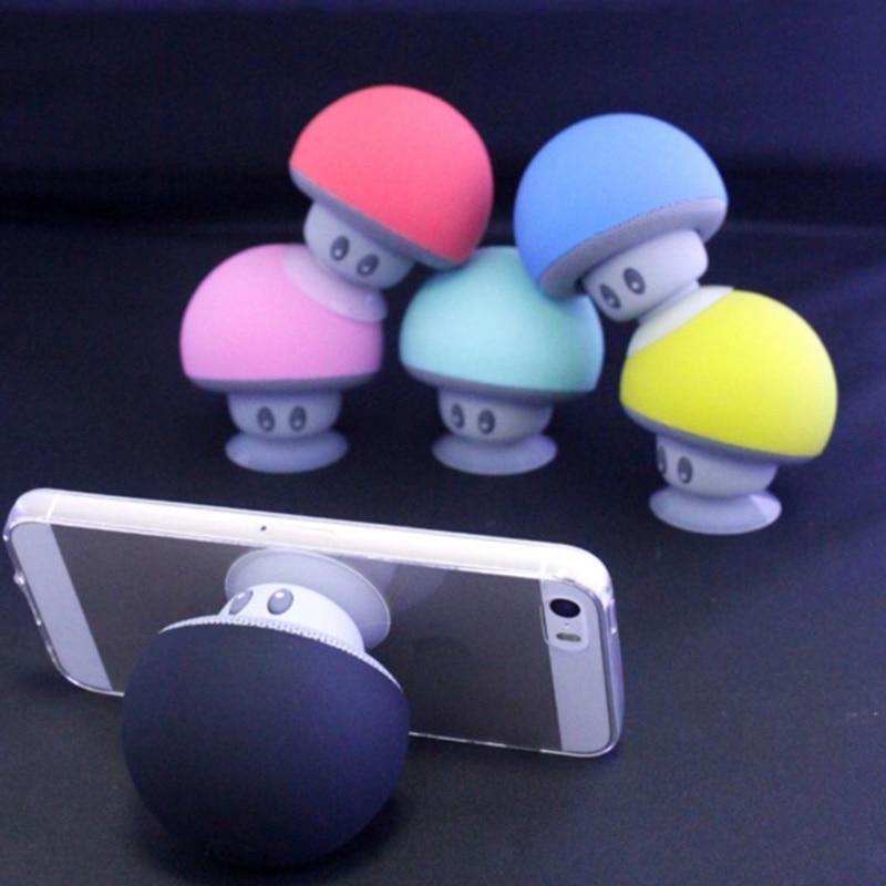 Musik Pop-Halter Soporte Lautsprecher Mp3-player Bluetooth Kleine Pilz Telefon für Xiaomi iPhone Samsung Unterstützung
