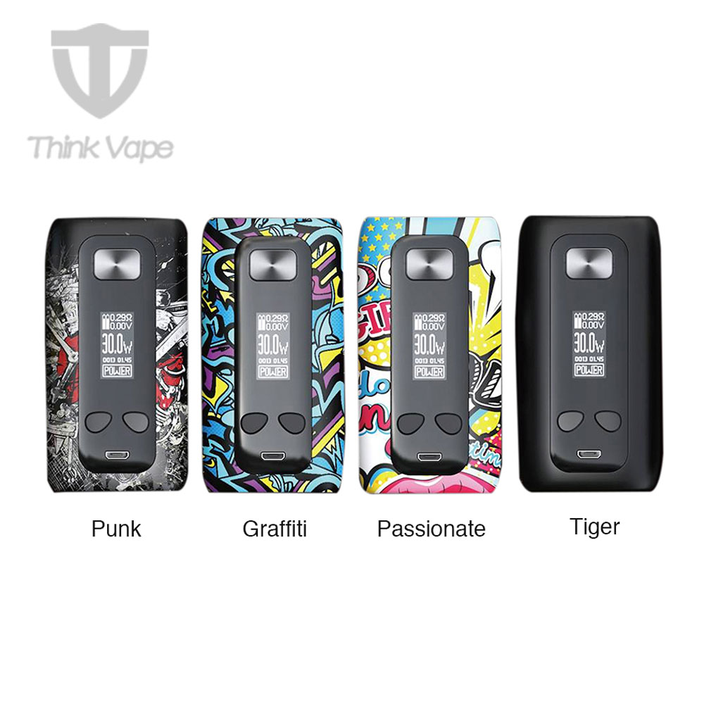 Original Think Vape Thor 200W TC Box MOD Max Output 200W VW/TC Mod W/ ST200 Chip & 0.96-inch OLED No 18650 Battery Vape Thor Mod 100% original geekvape gbox mod 200w gbox squonker box mod vape fit 8ml squonk bottle support radar rda tank