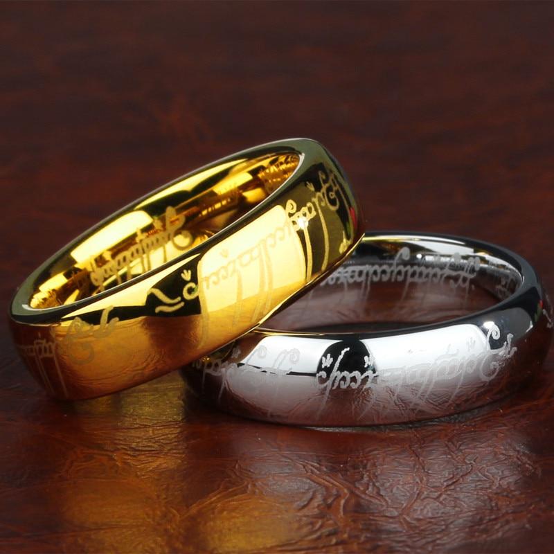 Hobbiti ehete rõngasrõngad ketiga titaanist terasrõngast 3Colors - Mood ehteid - Foto 6
