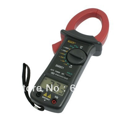 <font><b>Battery</b></font> Powered AC/DC <font><b>Volt</b></font> Amp Ohm Meter BM801 Digital Clamp Multimeter Multitester Instrument Tool Portable Factory Home Hobby image