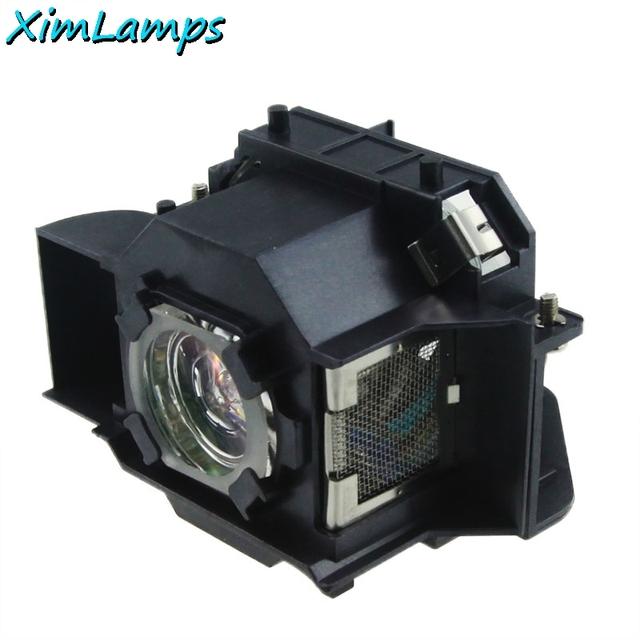 Elplp 34 xim lâmpadas acessórios de vídeo projetor de substituição lâmpada com habitação para epson emp-62 emp-62c emp-63 emp-76c emp-82