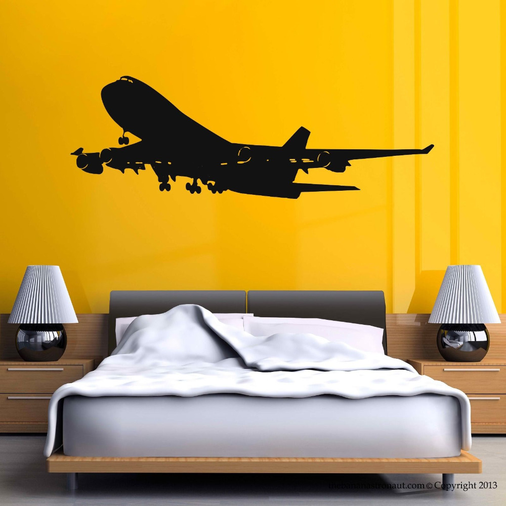 Airplane Wall Decal Stickers Decor Easy Removable Sticker Mural ...