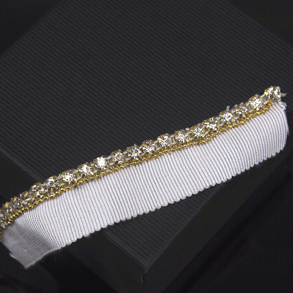 Beaded Crystal Rhinestones Applique Trimming Tape Lace Ribbon Trim Fabric  Sewing renda for Cloth 10yard T1297 a4abce489fd2