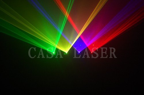 Year Hot Sale !! Green+Yellow+Voild+Red Laser stage sportlight /Professional four head American DJ Disco Show System