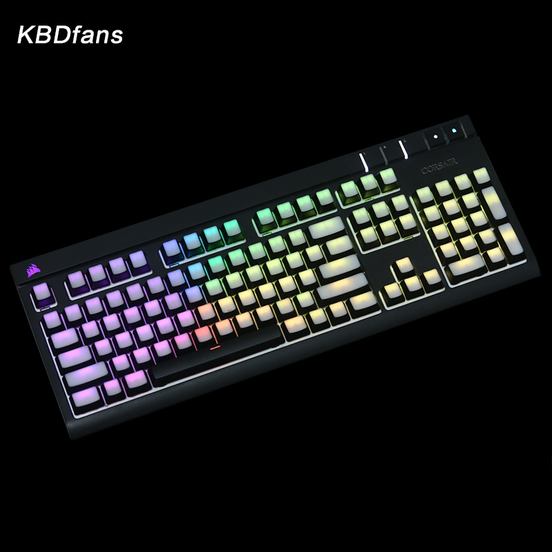 blank Printed Backlit Keycaps 104/87 ANSI layout Translucidus Backlit abs Keycaps For Corsair K65 K70 Logitech G710