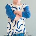2016 Новый Бобо Выбирает Весна Лето Дети Бананы Футболки Для мальчики Девочки Детские Малышей Тройники 3/4 Рукав футболки Детей одежда