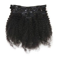 Full Shine Natural Curly Clip In Human Hair Extensions Remy Human Hair Clip For Black Women