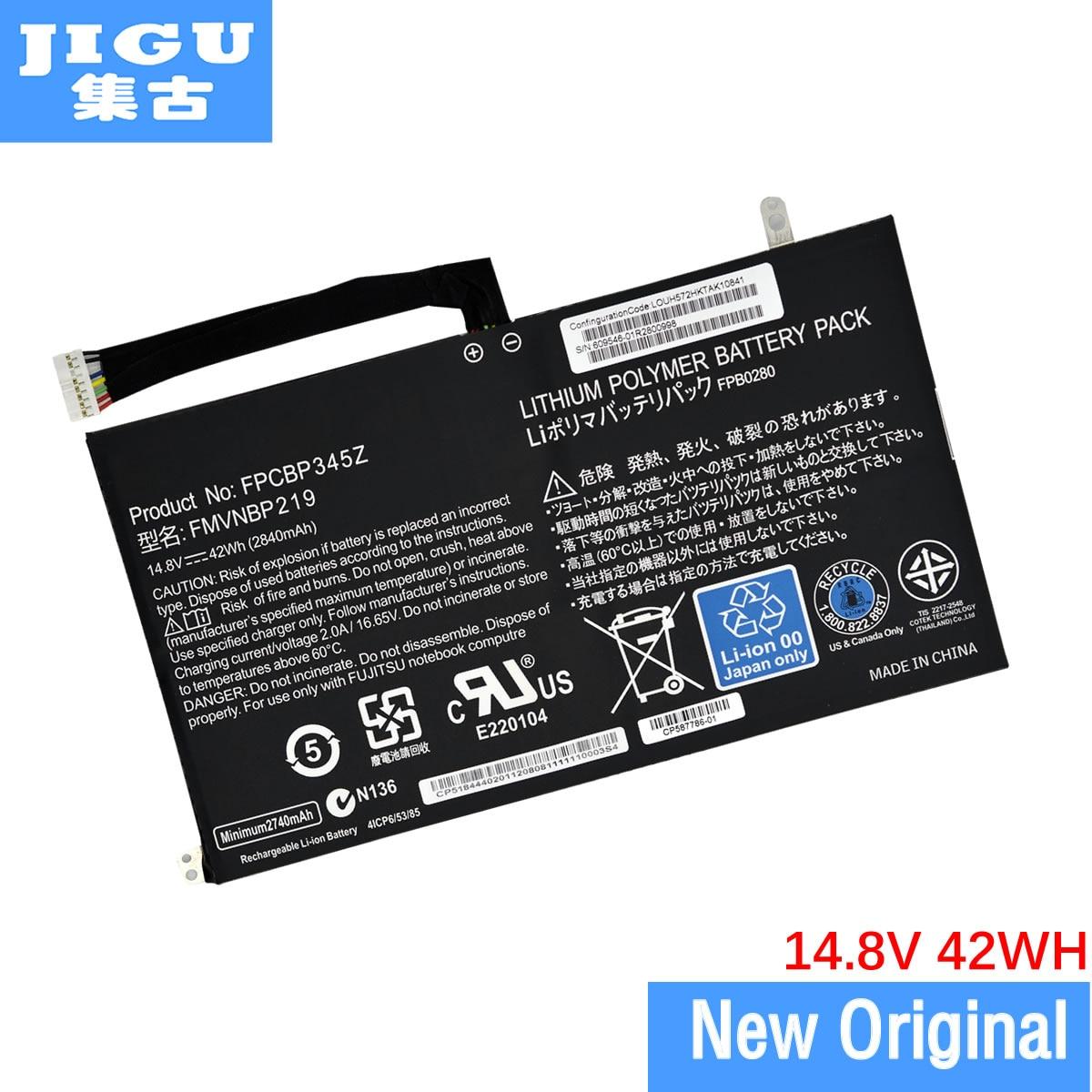 JIGU Original FPCBP345Z Laptop Battery for Fujitsu LifeBook UH572 UH552 Ultrabook FMVNBP219 FPB0280 FPCBP345Z 14.8V 2840mAh samsung rs 552 nruasl