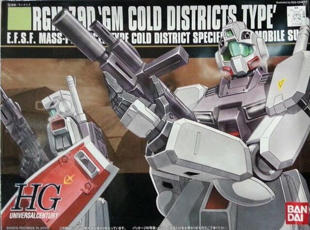 Bandai Gundam 20465 HGUC 1/144 RGM 79D GM Cold District typ mobilny garnitur montaż zestawy modeli figurki Model z tworzywa sztucznego