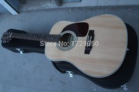 Chinese Guitar Factory Custom New D 28 Acoustic Guitar Natural Solid Spruce Top Natural Wooden Acoustic