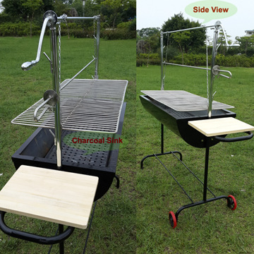 Free Shipping 151cm Length Outdoor Charcoal Bbq Grill