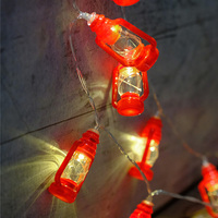 Novelty Red Lantern Light String 3M 20 Leds Battery Operated Party Light Halloween Christmas DIY Party