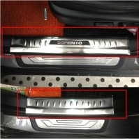 free shipping Fit for 2013 2014 2015 KIA sorento car door sill welcome pedal car parts