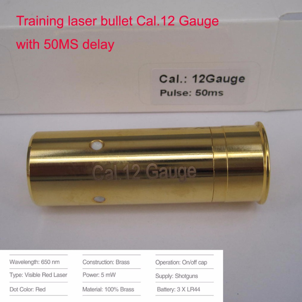 12Gauge(Light Pulse 50MS) Laser Ammo, Laser Training Bullet, Laser Bullet Cartridge for Dry Fire Training & Shooting Simulation-in Lasers from Sports & Entertainment