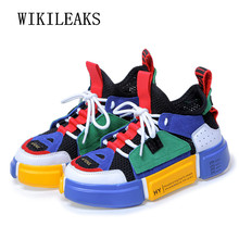 Купить с кэшбэком luxury brand shoes women air mesh breather harajuku shoes womens platform sneakers basket femme 2019 women's vulcanize shoes
