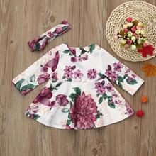 2PCs Toddler Baby Girl Floral Dress