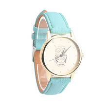 Women Watch Men Montre Homme Reloj Mujer Bayan Saat Montre  Retro Owl Design Leather Band Analog Alloy Quartz Wrist Watch  3*